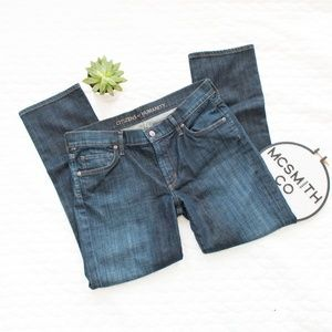 CoH | Phoebe Slim Straight Crop Dark Wash Denim